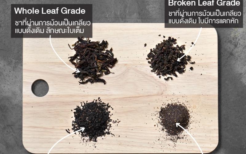 ก่อนจะเลือกโรงงานชา มาดูกันก่อนดีกว่าชาแต่ละเกรดมีความแตกต่างกันอย่างไร